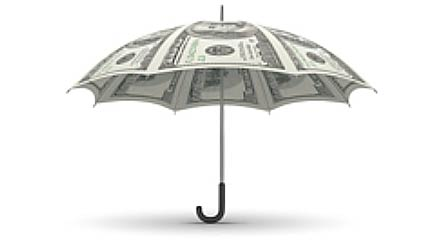 Financial Advice Save for a rainy day Umbrella