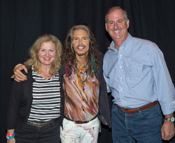Sue and Rich Meehan with Steven Tyler