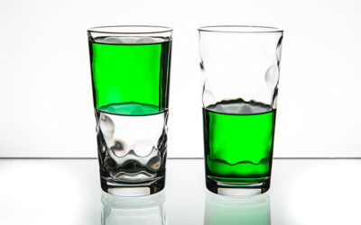 Look at the glass as half full